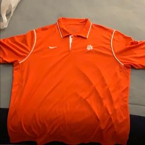 Nike Clemson Dri fit golf polo